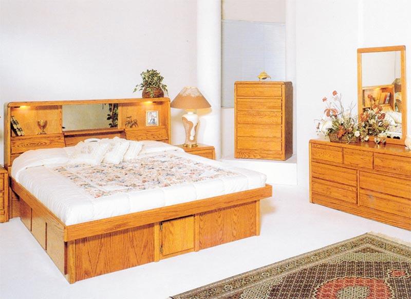 eastern king jasmine oak bookcase headboard - King Bed Frame And Headboard