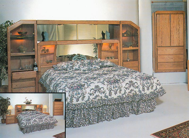 Waterbed Marathon Wall Unit Only or with Waterbed-Q, Queen Waterbeds ...