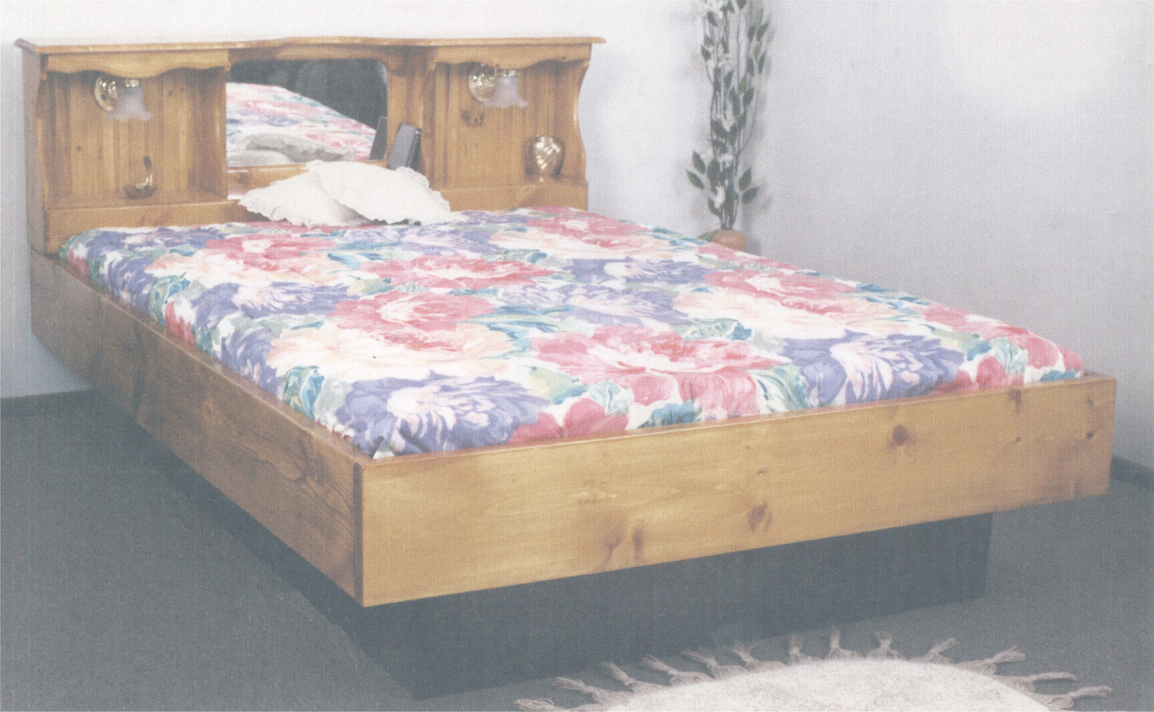 Super Single Monarch II with lights Wood Frame Waterbed