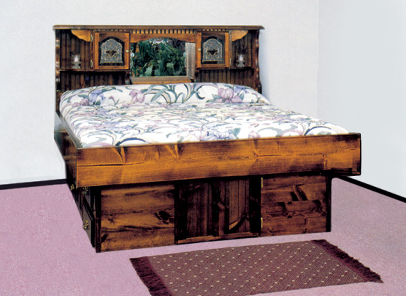 Waterbed Mountain Floral Complete-HB,FR,deck,ped K, King ...