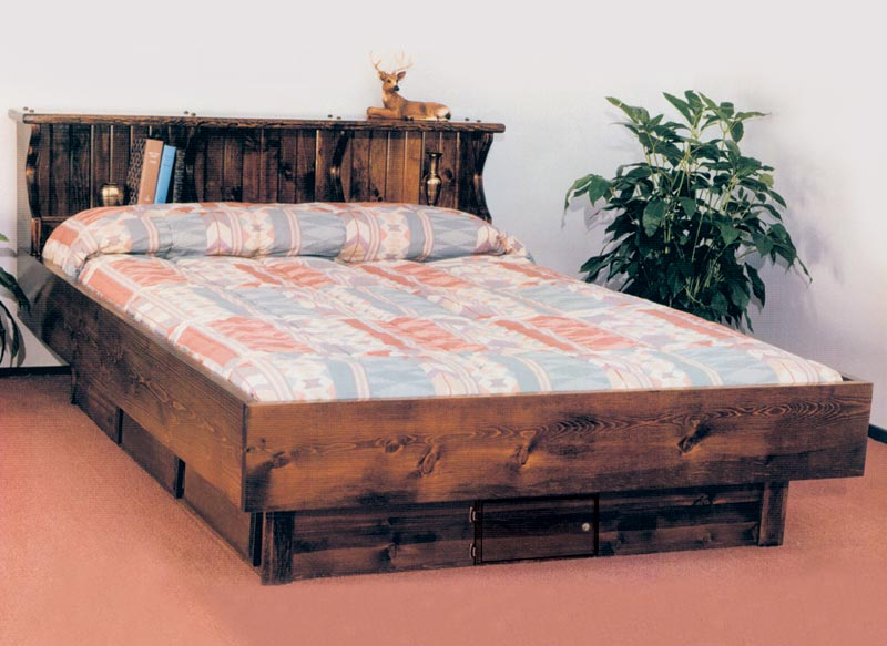 Waterbed Pinewood Complete Hb Fr Deck 6d Ped Q Queen Pine