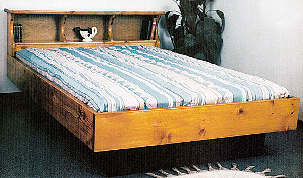 Captain bed queen - Waterbed Royale Complete Hb Fr Deck Ped K King Pine Waterbeds