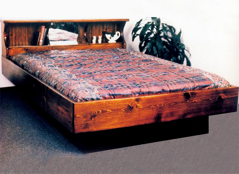 Waterbed san diego complete hb fr deck ped q queen pine for Waterbed with fish