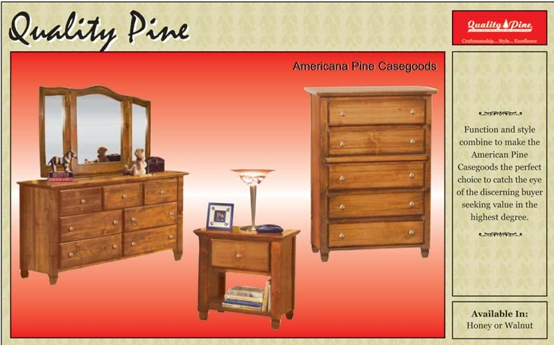 Americana Pine Furniture Casegoods