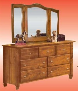 Americana Pine TriFold Mirror & Dresser from Awesome Waterbeds