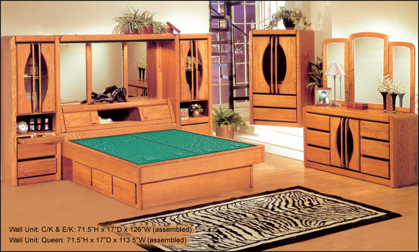 Waterbed Matrix 72 Wall Unit Only Or With Waterbed Queen Queen Waterbeds Frames Oak