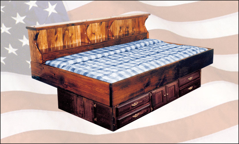 super single pine wood frame youth waterbed
