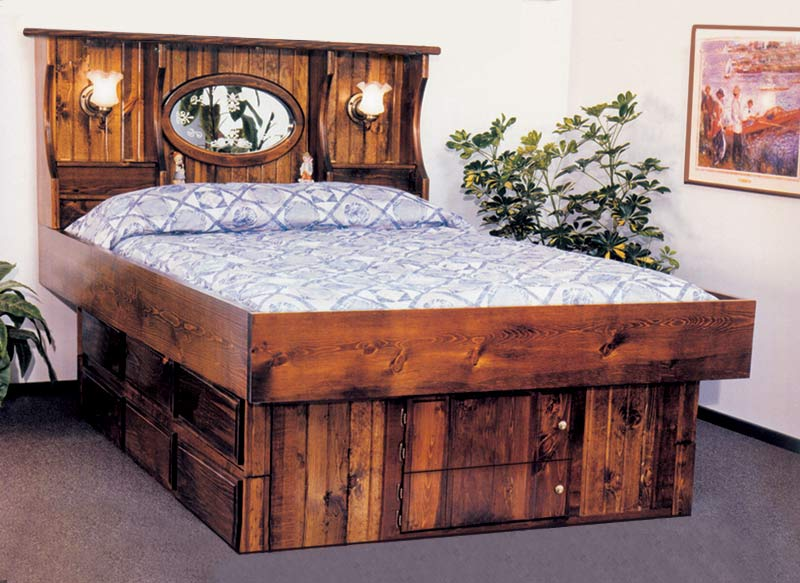 Waterbed Crestwood With Lamps Complete Hb Fr Deck 6d Ped Q
